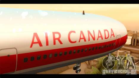 Lookheed L-1011 Air Canada для GTA San Andreas вид сзади