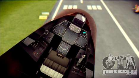 F-22 Raptor G1 Starscream для GTA San Andreas вид справа