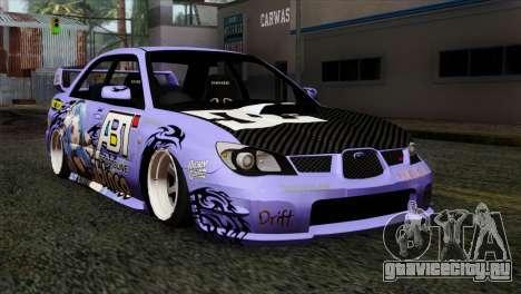 Subaru Impreza WRX STI 5pb Itasha для GTA San Andreas