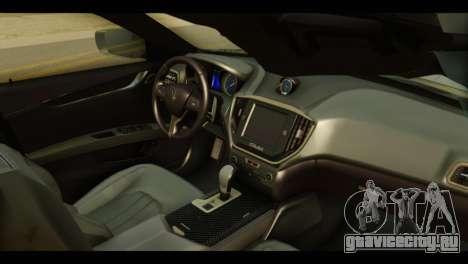 Maserati Ghibli S 2014 v1.0 EU Plate для GTA San Andreas вид справа