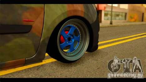 Mercedes-Benz Citan Stance для GTA San Andreas вид сзади слева