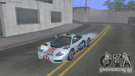 1992 McLaren F1 Clinic Model Custom Tunable v1.0 для GTA San Andreas салон