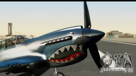 P-40E Kittyhawk US Navy для GTA San Andreas вид справа