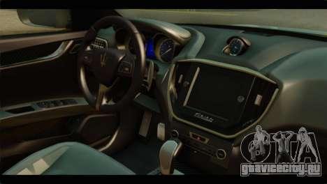 Maserati Ghibli S 2014 v1.0 SA Plate для GTA San Andreas вид сзади слева