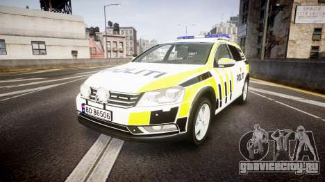 Volkswagen Passat B7 Police 2015 [ELS] marked для GTA 4