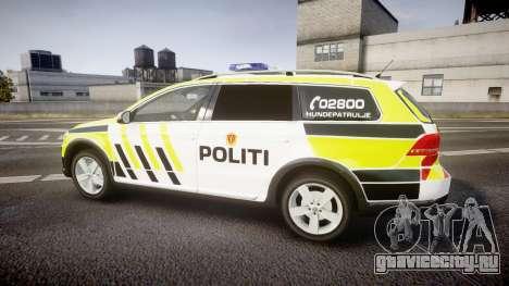 Volkswagen Passat B7 Police 2015 [ELS] marked для GTA 4 вид слева