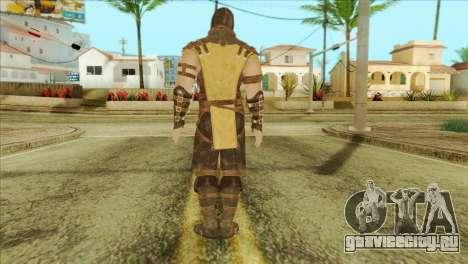 Mortal Kombat X Scoprion Skin для GTA San Andreas второй скриншот
