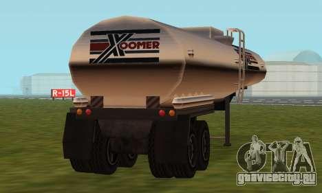 PS2 Petrol Trailer для GTA San Andreas вид сзади