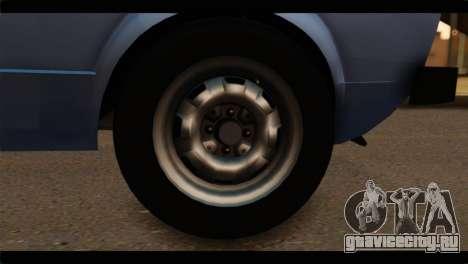 Volkswagen Caddy Mk1 Stock для GTA San Andreas вид сзади слева