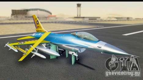 F-16C USAF 111th FS 90th Anniversary для GTA San Andreas вид слева