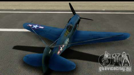 P-40E Kittyhawk US Navy для GTA San Andreas вид изнутри