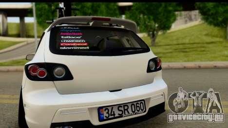 Mazda 3 2008 для GTA San Andreas вид справа