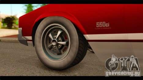 GTA 5 Declasse Sabre GT Turbo для GTA San Andreas вид сзади слева