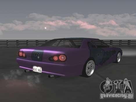 Elegy Paintjobs для GTA San Andreas вид изнутри