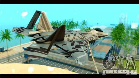 F-22 Raptor Starscream для GTA San Andreas вид слева