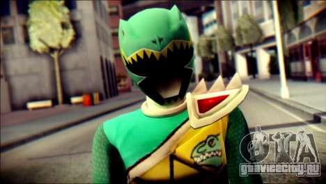 Power Rangers Kyoryu Green Skin для GTA San Andreas третий скриншот