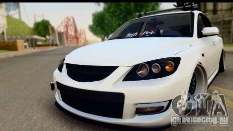 Mazda 3 2008 для GTA San Andreas вид сзади слева