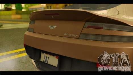 Aston Martin V12 Vantage для GTA San Andreas вид справа
