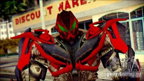 Stinger Skin from Transformers для GTA San Andreas третий скриншот
