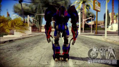 Optimus Prime Skin from Transformers для GTA San Andreas второй скриншот