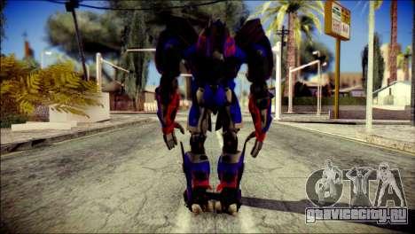 Optimus Prime Skin from Transformers для GTA San Andreas второй скриншот