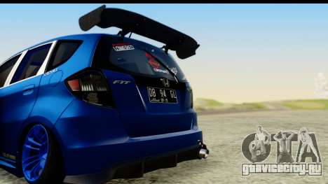 Honda Fit 2009 JDM Modification для GTA San Andreas вид справа