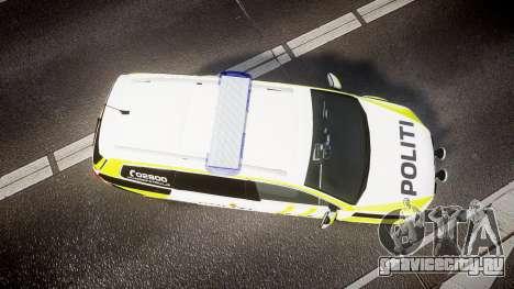 Volkswagen Passat B7 Police 2015 [ELS] marked для GTA 4 вид справа