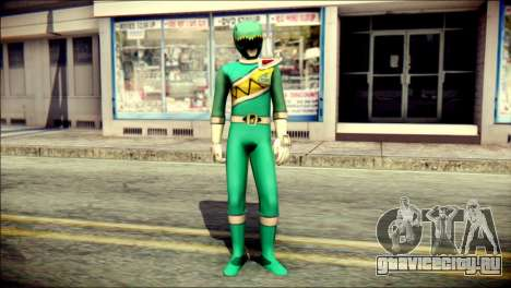 Power Rangers Kyoryu Green Skin для GTA San Andreas