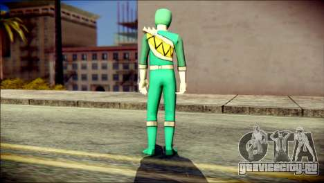 Power Rangers Kyoryu Green Skin для GTA San Andreas второй скриншот