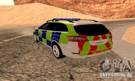 Форд Мондео Кент Полиции для GTA San Andreas вид слева