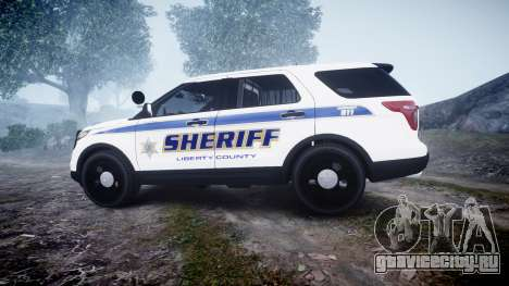 Ford Explorer Police Interceptor [ELS] slicktop для GTA 4 вид слева