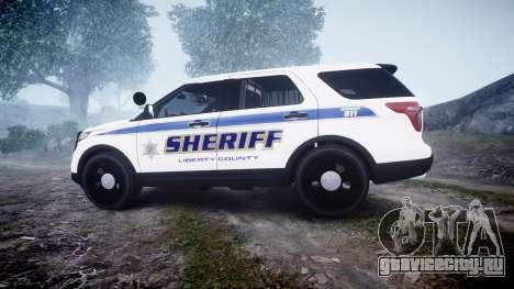Ford Explorer Police Interceptor [ELS] slicktop для GTA 4 вид слева