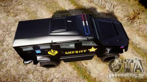 GTA V HVY Insurgent Pick-Up SWAT [ELS] для GTA 4 вид справа
