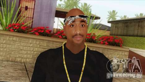 Tupac Shakur Skin v2 для GTA San Andreas третий скриншот