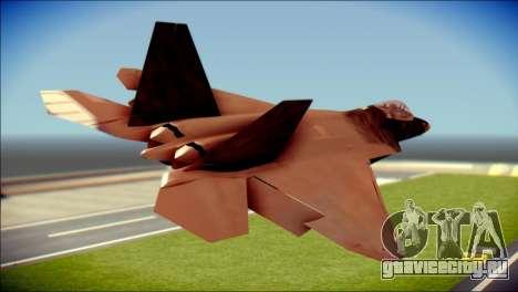 F-22 Raptor G1 Starscream для GTA San Andreas вид слева