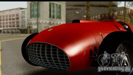 Ferrari 375 F1 для GTA San Andreas вид сзади слева