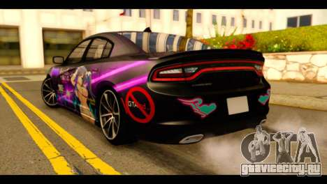 Dodge Charger RT 2015 Hestia для GTA San Andreas вид слева