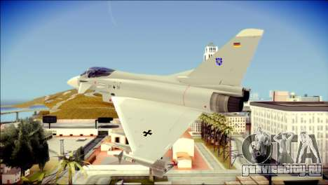 EuroFighter Typhoon 2000 Luftwaffe для GTA San Andreas вид слева