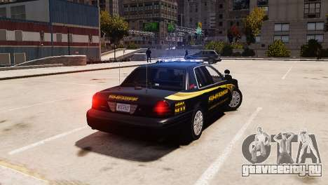Ford Crown Victoria Sheriff LC [ELS] для GTA 4 вид слева