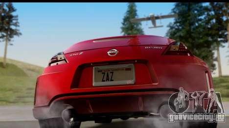 Nissan 370Z Nismo 2010 для GTA San Andreas вид справа