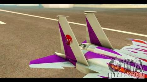 F-15C Air Combat для GTA San Andreas вид сзади слева