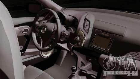 Honda CRZ Mugen Stance Miku Itasha для GTA San Andreas вид справа