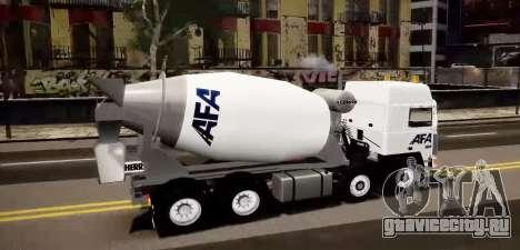 Volvo F10 cement truck для GTA 4 вид слева