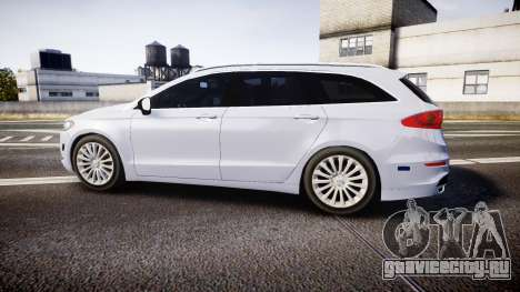 Ford Fusion Estate 2014 Unmarked Police [ELS] для GTA 4 вид слева