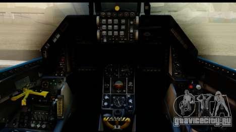 F-16C USAF 111th FS 90th Anniversary для GTA San Andreas вид изнутри