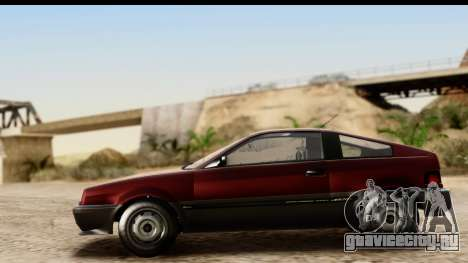 GTA 5 Dinka Blista Compact для GTA San Andreas вид сзади