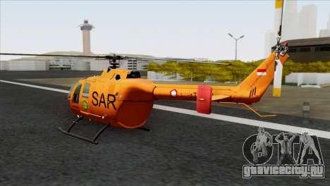 MBB BO-105 Basarnas для GTA San Andreas вид слева