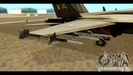 FA-18 Jolly Roger Black для GTA San Andreas вид справа