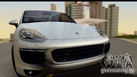 Porsche Cayenne S 2015 для GTA San Andreas вид сзади слева