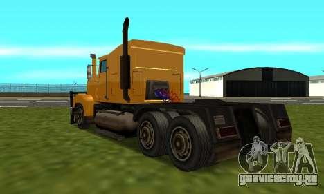 PS2 RoadTrain для GTA San Andreas вид слева